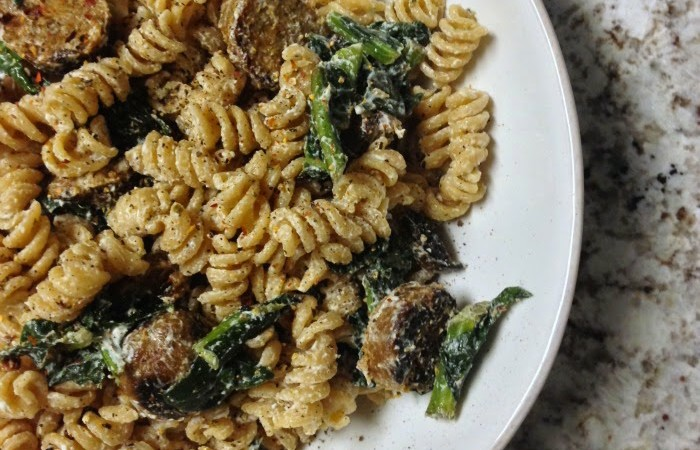 Sausage, Kale, and Goat Cheese Pasta