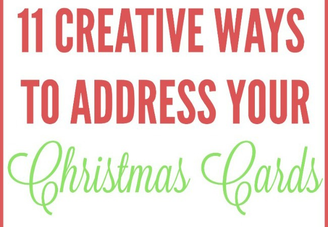 11 Creative Ways to Address Your Christmas Cards (…with pops of metallic!)