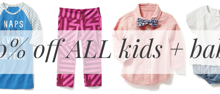 Huge 40% Off Sale for ALL Baby + Kid Clothes at ON