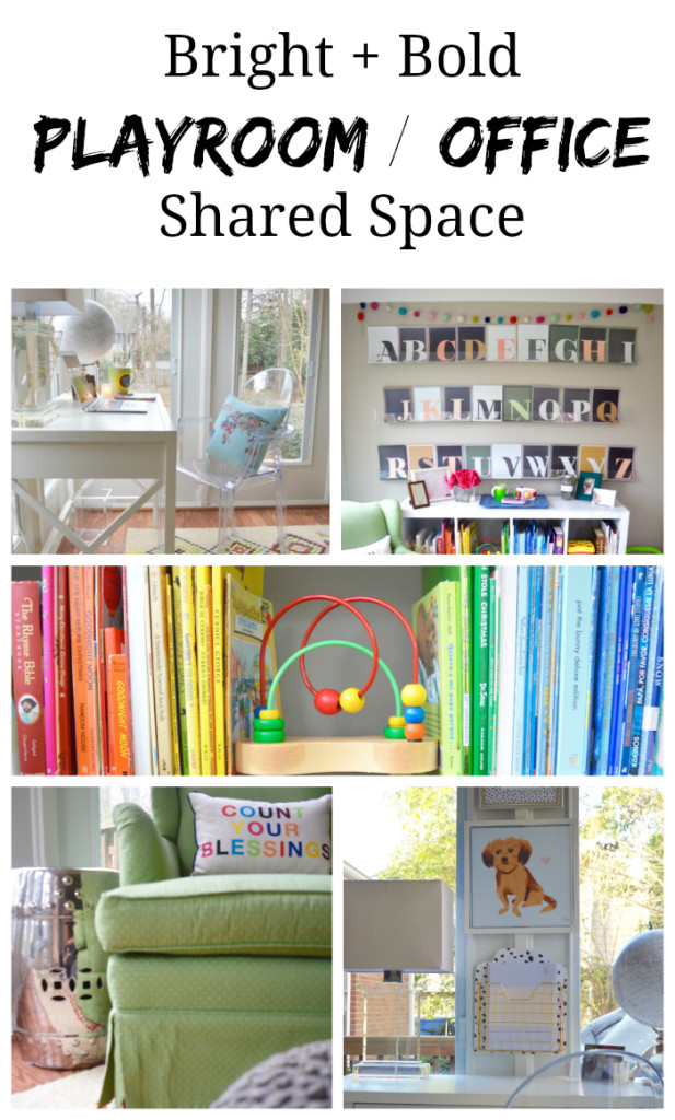 Our shared space a playroom office combo for Office playroom