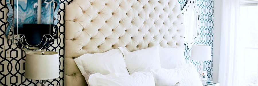 ORC Reveal | Blue + White Master Bedroom