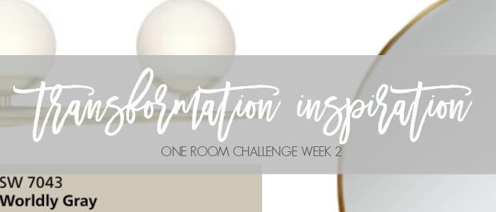 One Room Challenge Week 2 | The Pink(ish) Bathroom Transformation Inspiration