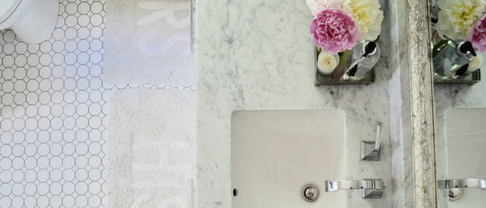 Master Bathroom Reno Reveal | Gray, White, Marble and Subway Tile Bathroom